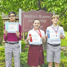 Wilkes-Barre Academy students place in math competition
